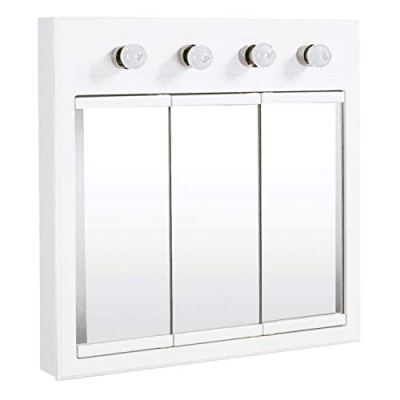 Lighted Tri-View Mirrored Medicine Cabinet