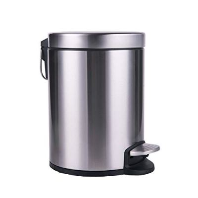 CTETC Round Small Trash Can with Lid Soft Close