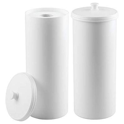 mDesign Plastic Free Standing Toilet Paper Holder Canister