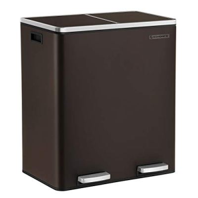 Metal Step Bin with Dual Compartments