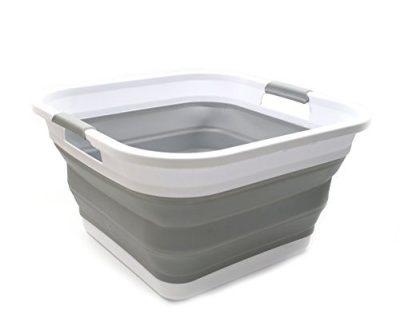 Collapsible Plastic Laundry Basket Square Tub/Basket