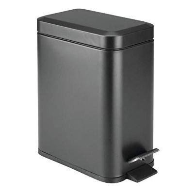 mDesign 1.3 Gallon Rectangular Slim Profile Steel