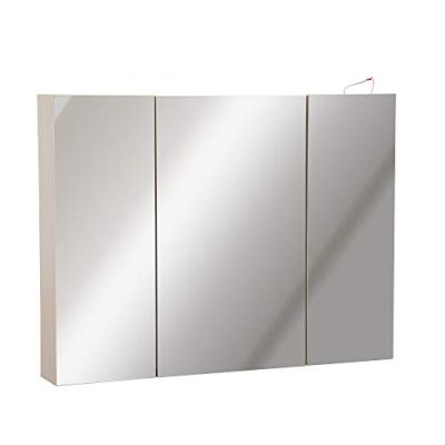 White Oak LED Bathroom Mirror Medicine Cabinet