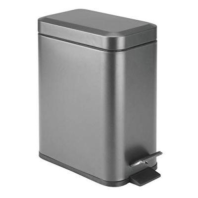 mDesign 1.3 Gallon Rectangular Slim Profile Steel Step
