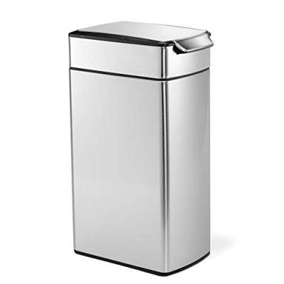 10.6 Gallon Slim Touch-Bar Kitchen Trash Can
