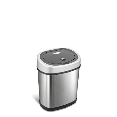 NINESTARS Automatic Touchless Infrared Motion Sensor Trash Can