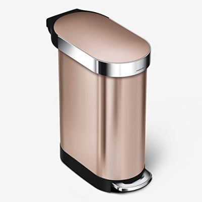 simplehuman 45 Liter / 12 Gallon Slim Hands-Free