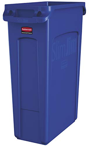 Rectangular Trash/Garbage Can with Venting Channels