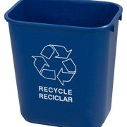 Carlisle Plastic Recycle Deskside Wastebasket