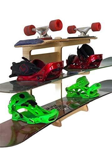 Freestanding Snowboard Rack Storage for: Snowboards, Skis