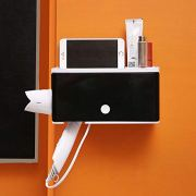 Multi-Function Hair Dryer Holder Storage Shelf