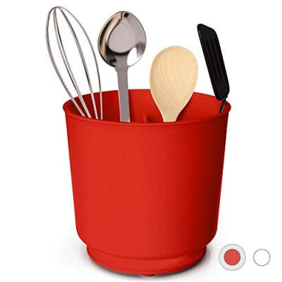 Extra Large Rotating Utensil Holder with Sturdy No-Tip Weighted Base
