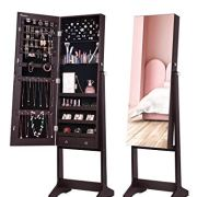 Jewelry Cabinet with Full-Length Mirror
