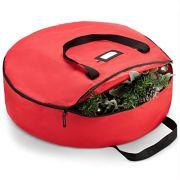 ZOBER Premium Christmas Wreath Storage Bag 36""