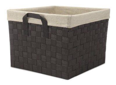 Woven Strap Storage Tote Basket