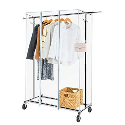 Greenstell Garment Rack with PVC Cover on Wheels