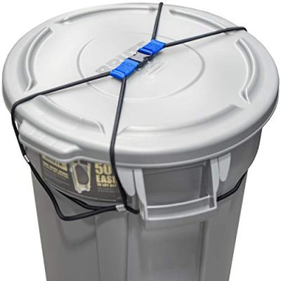 Encased Trash Can Lock for Animals/Raccoons