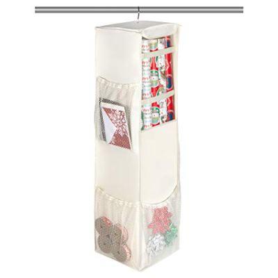 Christmas Hanging Gift Wrap Storage Organizer