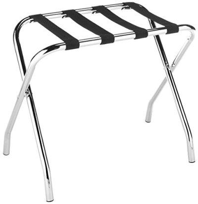 Foldable Chrome Luggage Rack