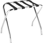 Foldable Chrome Luggage Rack