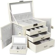 Homde Jewelry Box for Women Girls with Small Travel Case