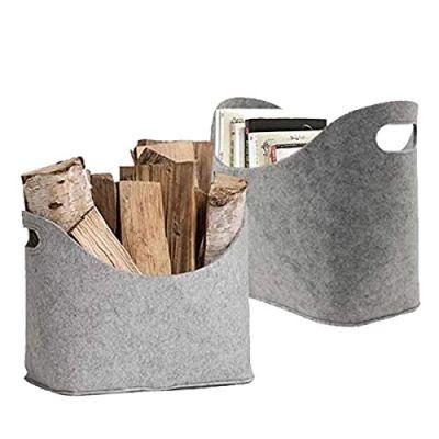 LIMEIDE Large Firewood Basket Storage, Felt Bag Shopping
