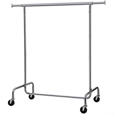 Metal 300 lb Clothing Rack on Wheels