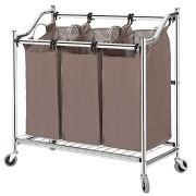 Heavy Duty Rolling Laundry Cart for Clothes