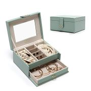 Jewelry Box with Mirror for Rings Earrings