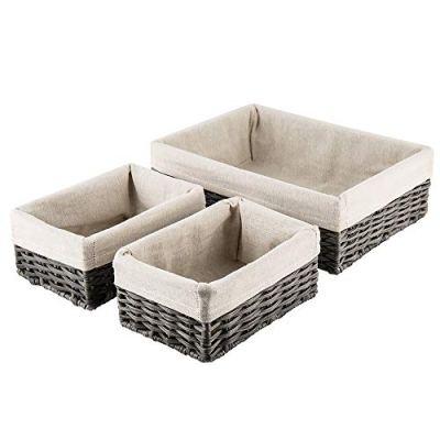 HOSROOME Handmade Wicker Storage Baskets Set