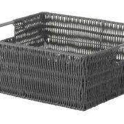 Whitmor Rattique Shelf Tote Basket - Grey