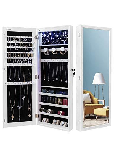 Nicetree 6 LEDs Jewelry Armoire Organizer