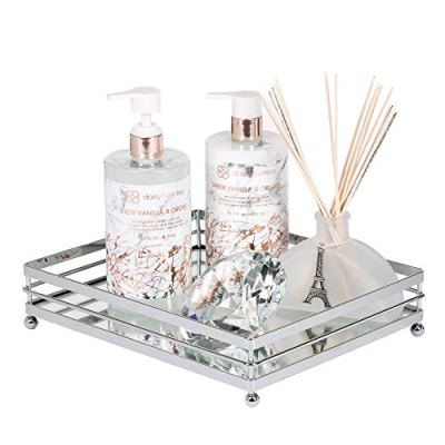 Tray Mirror Perfume Glass Vanity Jewelry