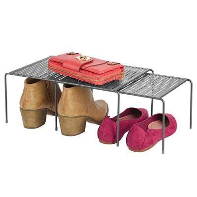 mDesign Modern Adjustable Metal Closet, Cabinet