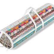 Whitmor Clear Zippered Storage for 25 Rolls