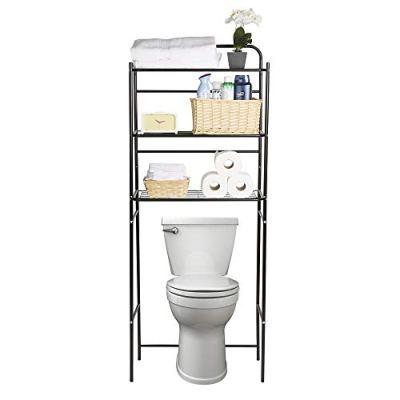 3TOILR-BLK 3 Tier Organizer, Bathroom Space Saver,