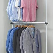 Adjustable Closet Rod Double Rail Garment Rack Organizer System