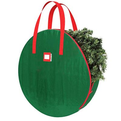 Christmas Wreath and Garland Bag with Durable Zippered Closure