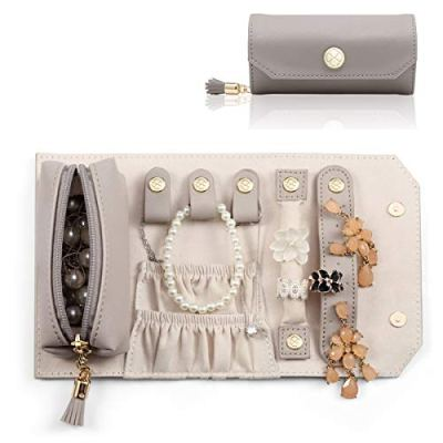 Vlando Small Travel Jewelry Roll Bag Organizer