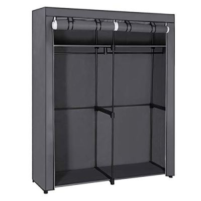 Closet Storage Organizer Portable Wardrobe with Hanging Rods