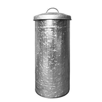 Autumn Alley Galvanized Toilet Paper Reserve Holder Canister with Lid