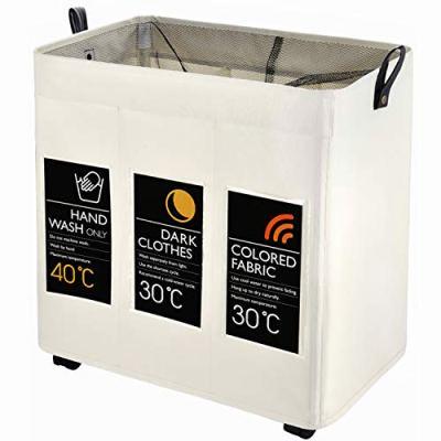 Laundry Sorter, Caroeas Laundry Hamper 3-Bag
