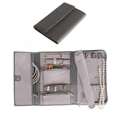 CASE ELEGANCE Saffiano Leather Travel Jewelry Case