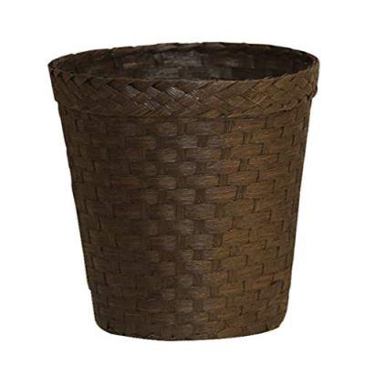 Wastebasket Rattan Woven Storage Baskets Books