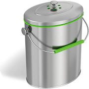 iTouchless Stainless Steel Compost Bin 1.6 Gallon
