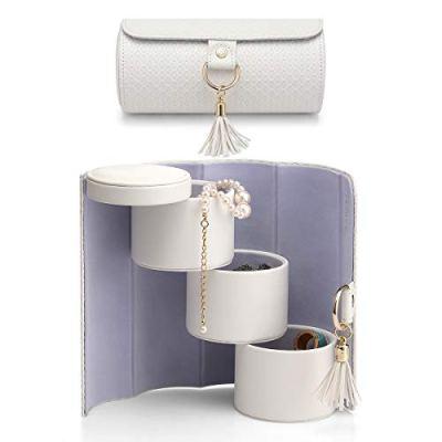 Vlando Travel Jewelry Roll Portable Storage Organizer