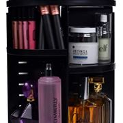 360 Rotating Makeup Organizer - Adjustable Shelf Height and Fully Rotatable.