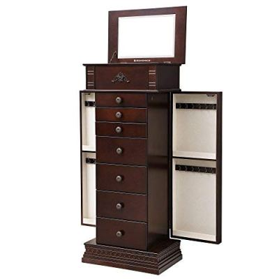 SONGMICS Large Jewelry Armoire Cabinet Storage Chest