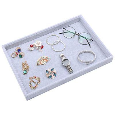 STYLIFING Velvet Multifunction Jewelry Tray Showcase