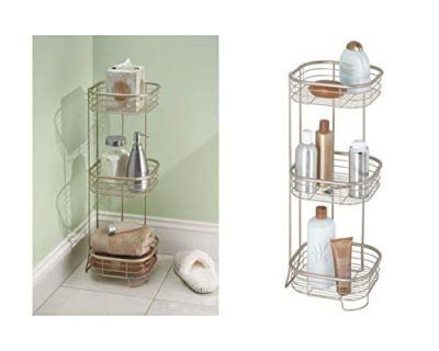 iDesign Forma Metal Wire Corner Standing Shower Caddy